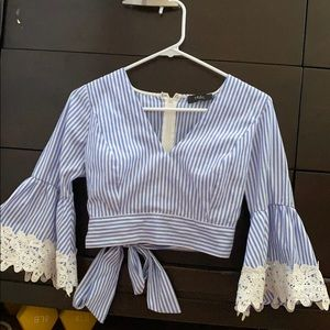 Crop top blouse